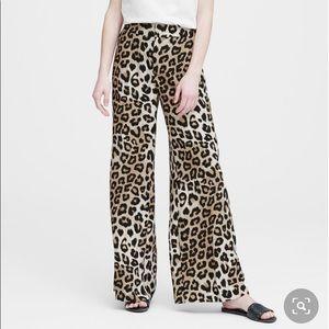 NWT! Banana Republic Hi Rise Wide Leg Leopard Pant